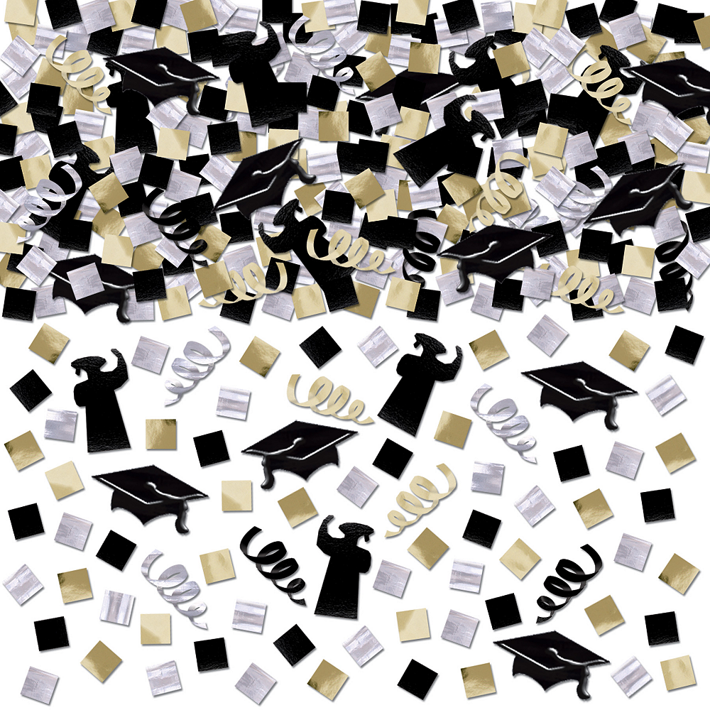 Nav Item for Black, Gold & Silver Graduation Confetti Mega Pack Image #1