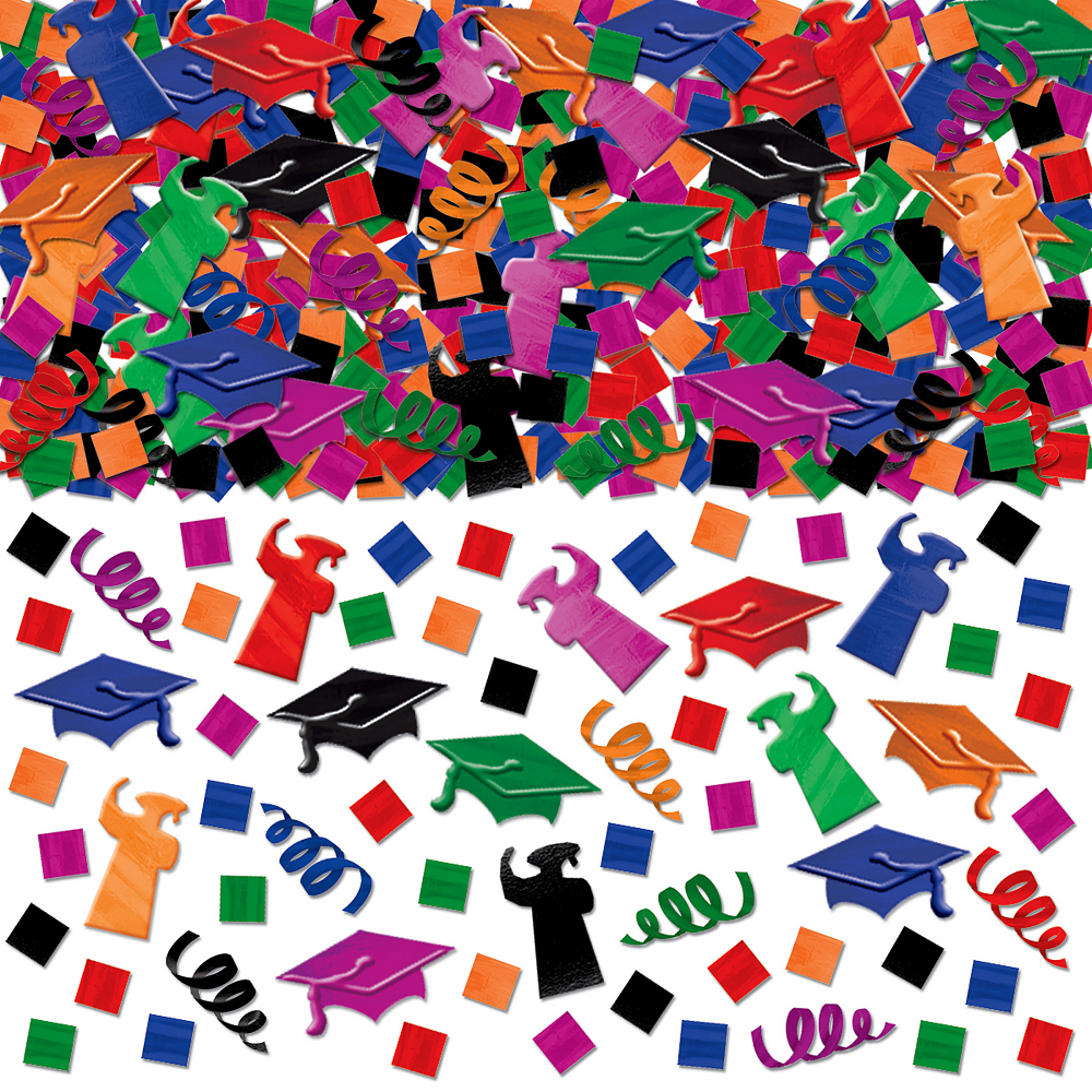 Multicolor Graduation Confetti Mega Pack Image #1