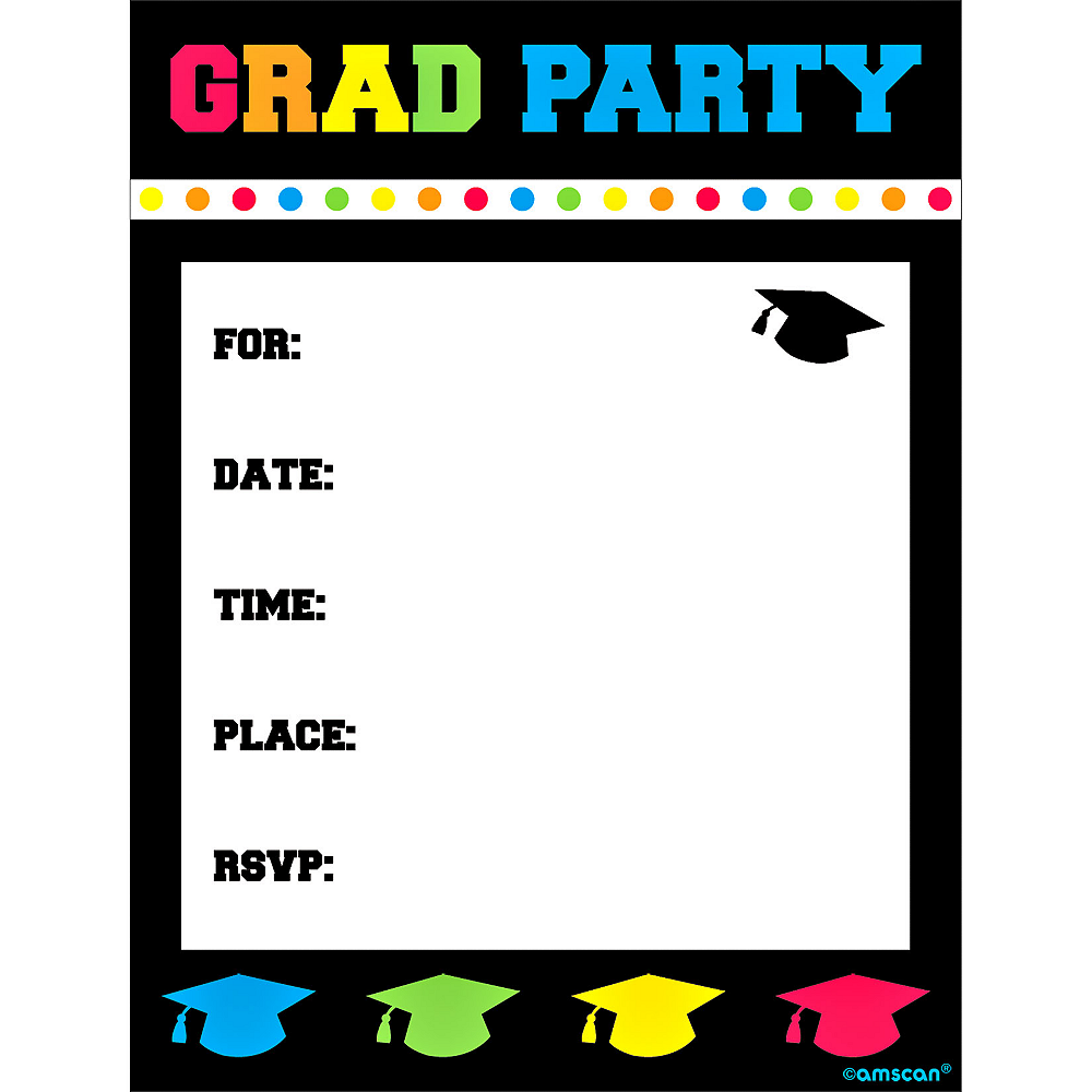 Nav Item for Colorful Postcard Graduation Invitations 8ct Image #1