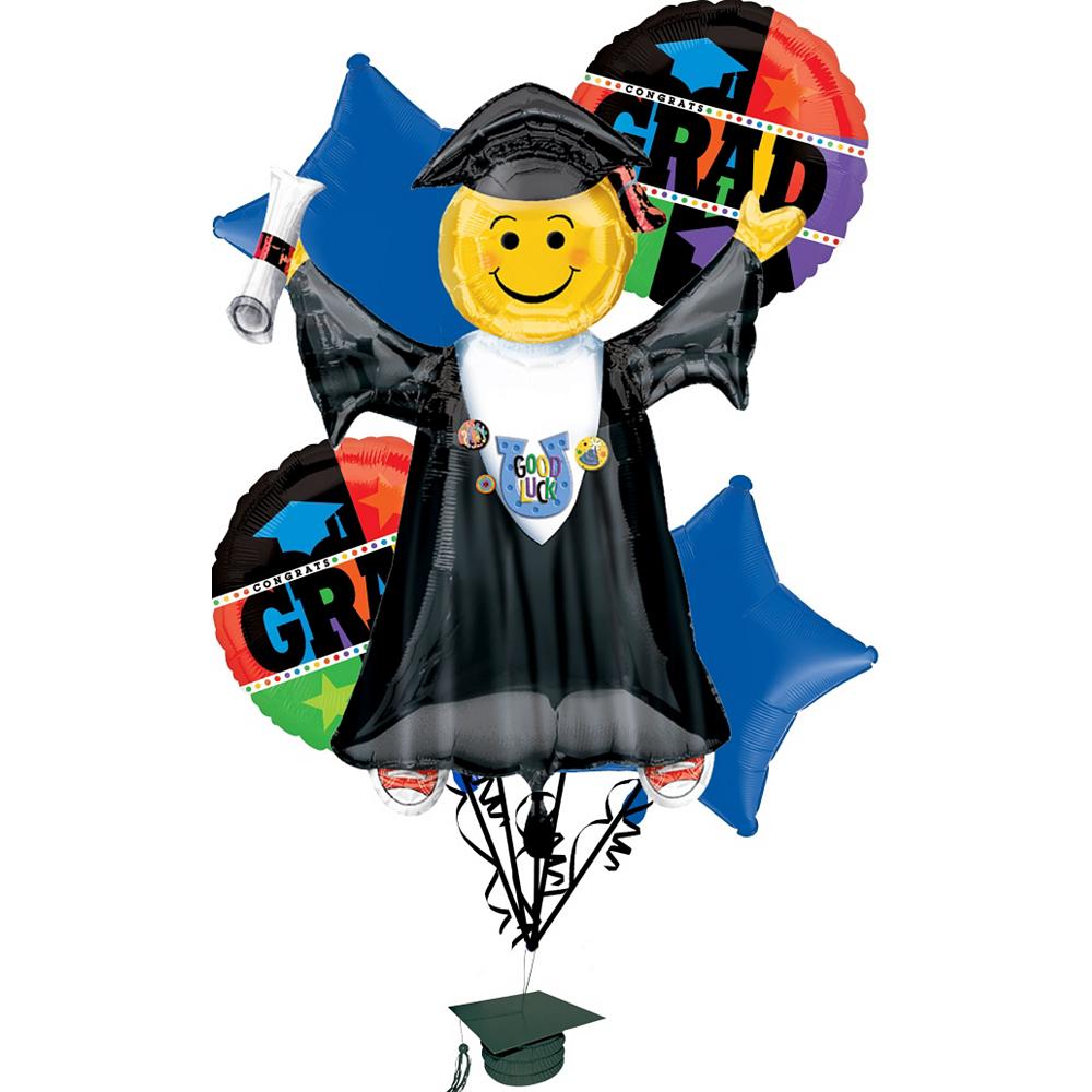 Graduation Balloon Bouquet 6pc - Bright Grad Image #1