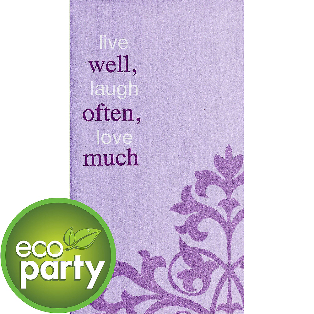 Nav Item for Eco-Friendly Live Well Often Guest Towels 16ct Image #1