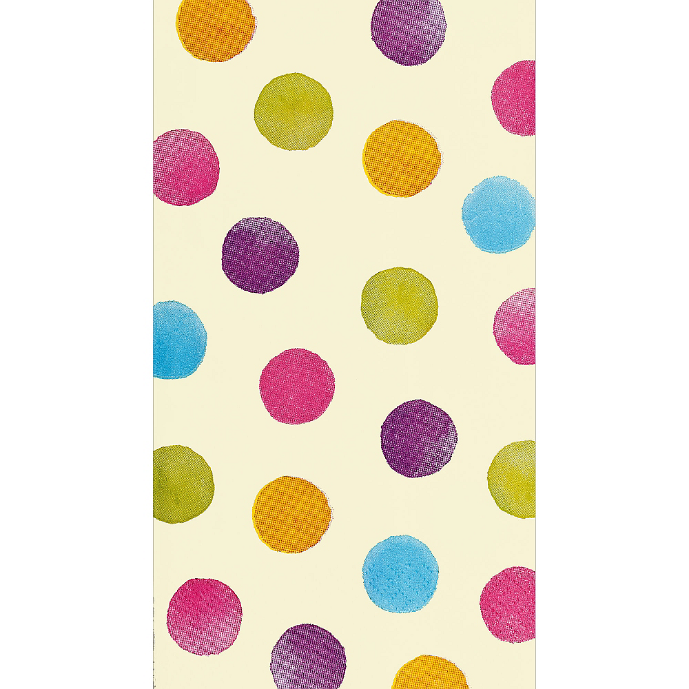 Watercolor Polka Dot Guest Towels 16ct Image #1