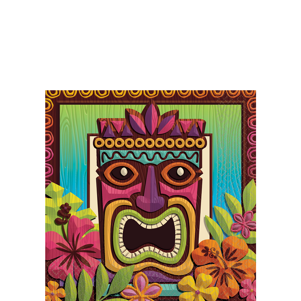Tropical Tiki Beverage Napkins 125ct Image #1