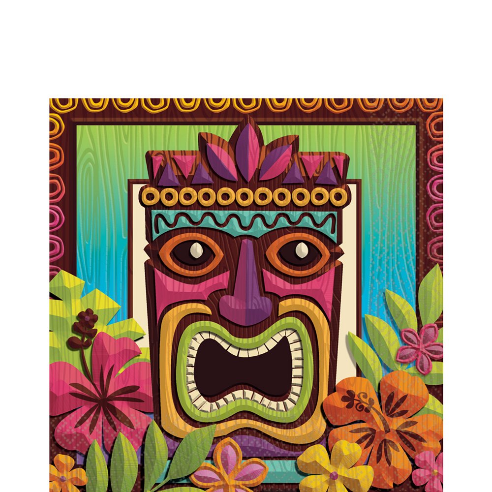 Nav Item for Tropical Tiki Lunch Napkins 125ct Image #1