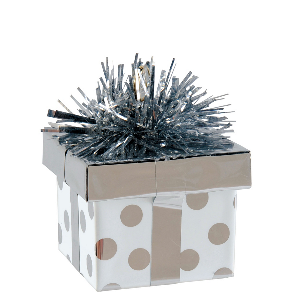 Silver Dots Gift Pack Balloon Weight Image #1