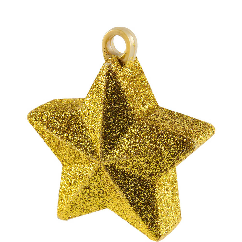 Gold Glitter Star Balloon Weight Image #1
