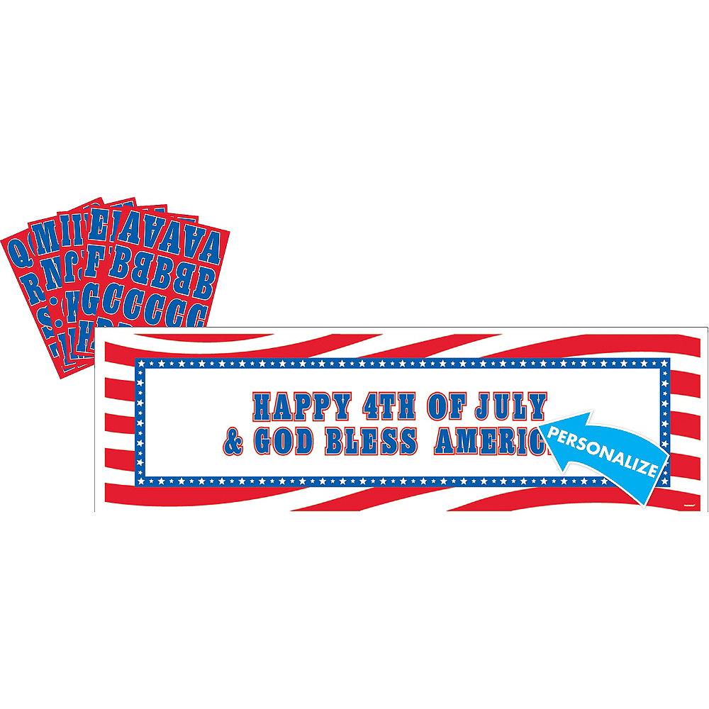 Giant Personalized Patriotic Banner Kit Image #1