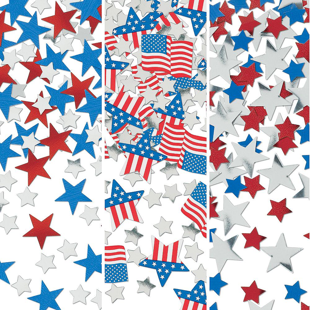 Patriotic American Flag Confetti Image #1