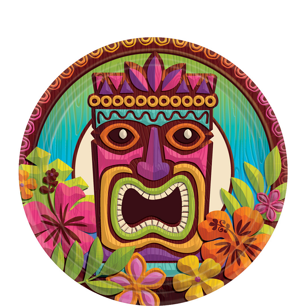Nav Item for Tropical Tiki Dessert Plates 60ct Image #1