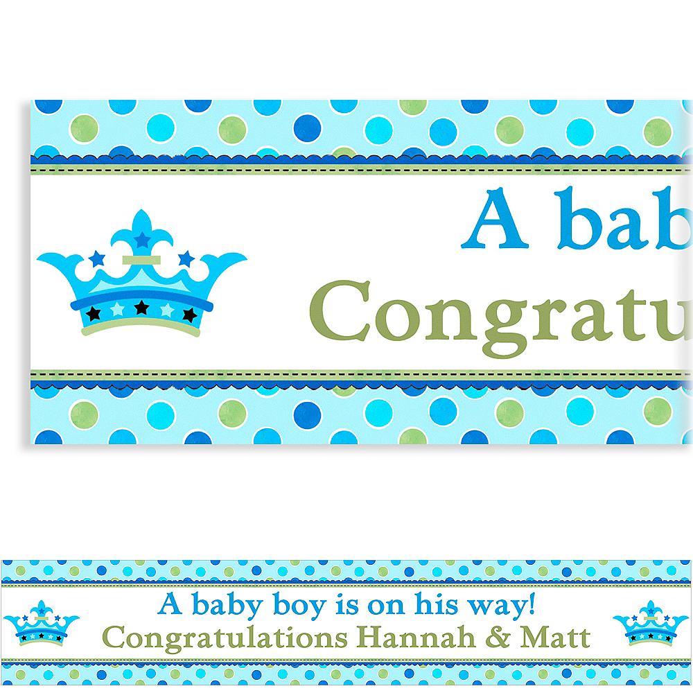 Custom Little Prince Baby Shower Banner 6ft Image #1