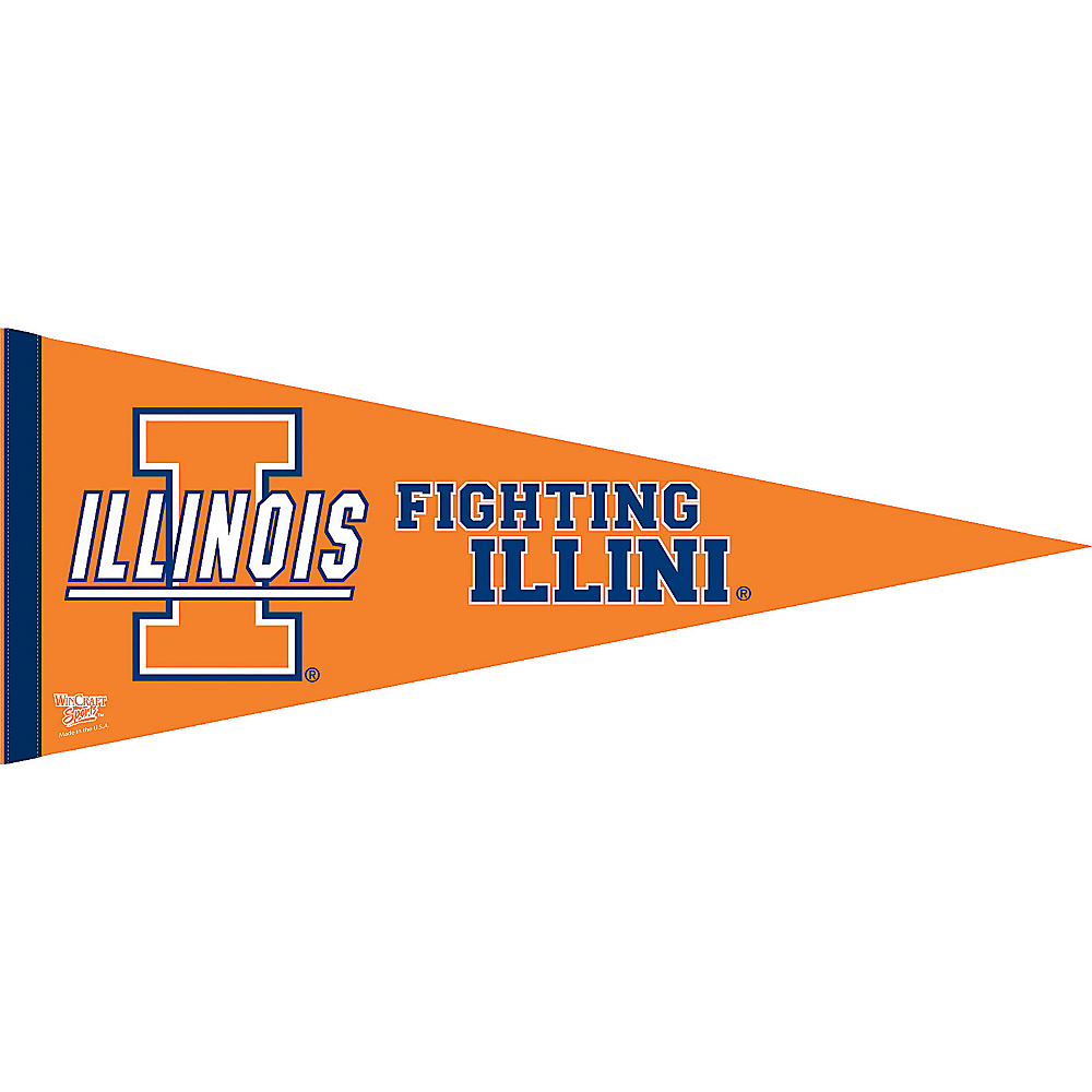 Illinois Fighting Illini Pennant Flag Image #1