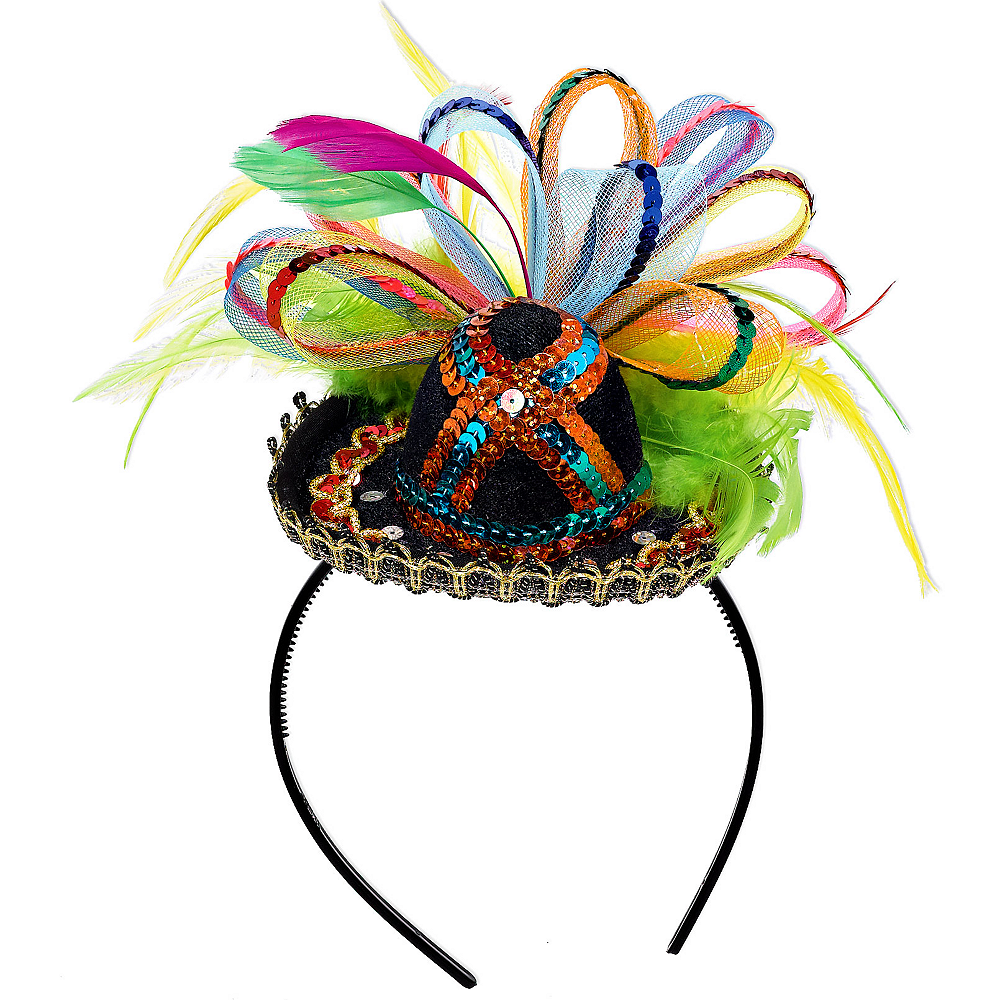 8dc4a2d25301f Mini Fiesta Sombrero Headband 6in x 9in