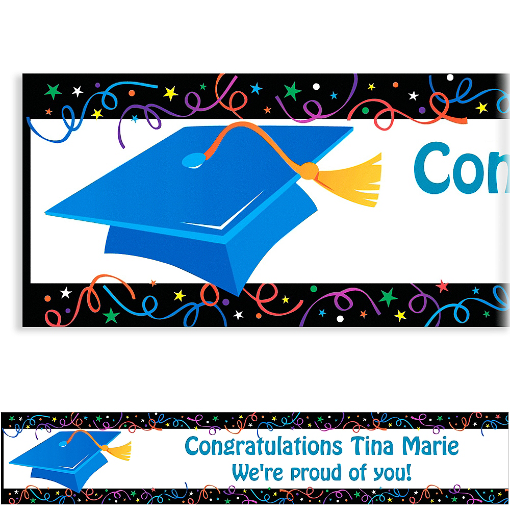 Custom Grad Celebration Banner 6ft    Image #1