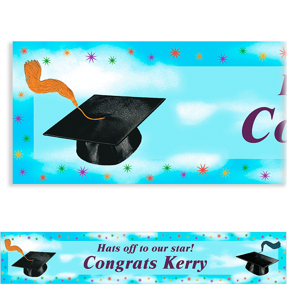 Custom Grad Spirit Banner 6ft    Image #1