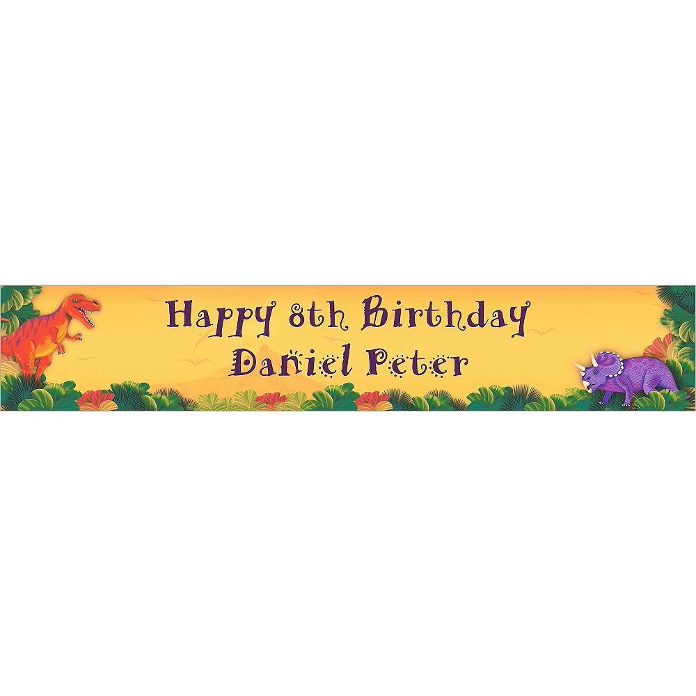 Nav Item for Custom Prehistoric Dinosaurs Birthday Banner 6ft Image #1