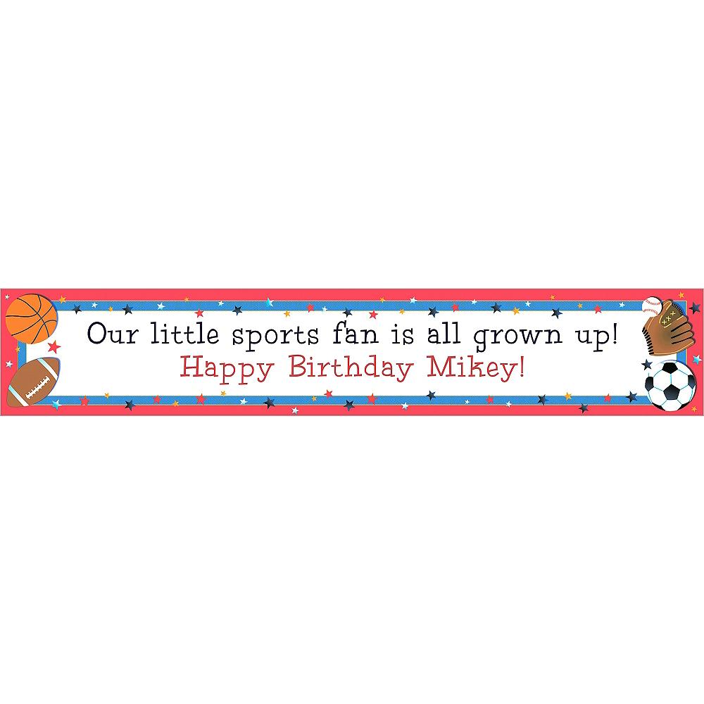Custom Little Champs Birthday Banner 6ft Image #1