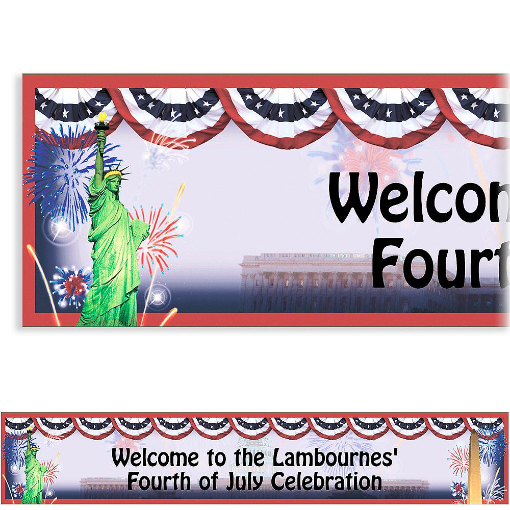 Custom Flying Colors Patriotic Banner 6ft Image #1