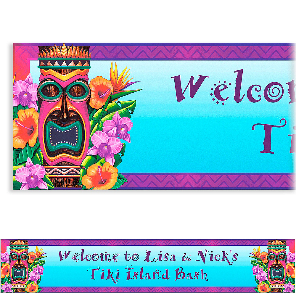 Custom Tiki Island Banner 6ft Image #1