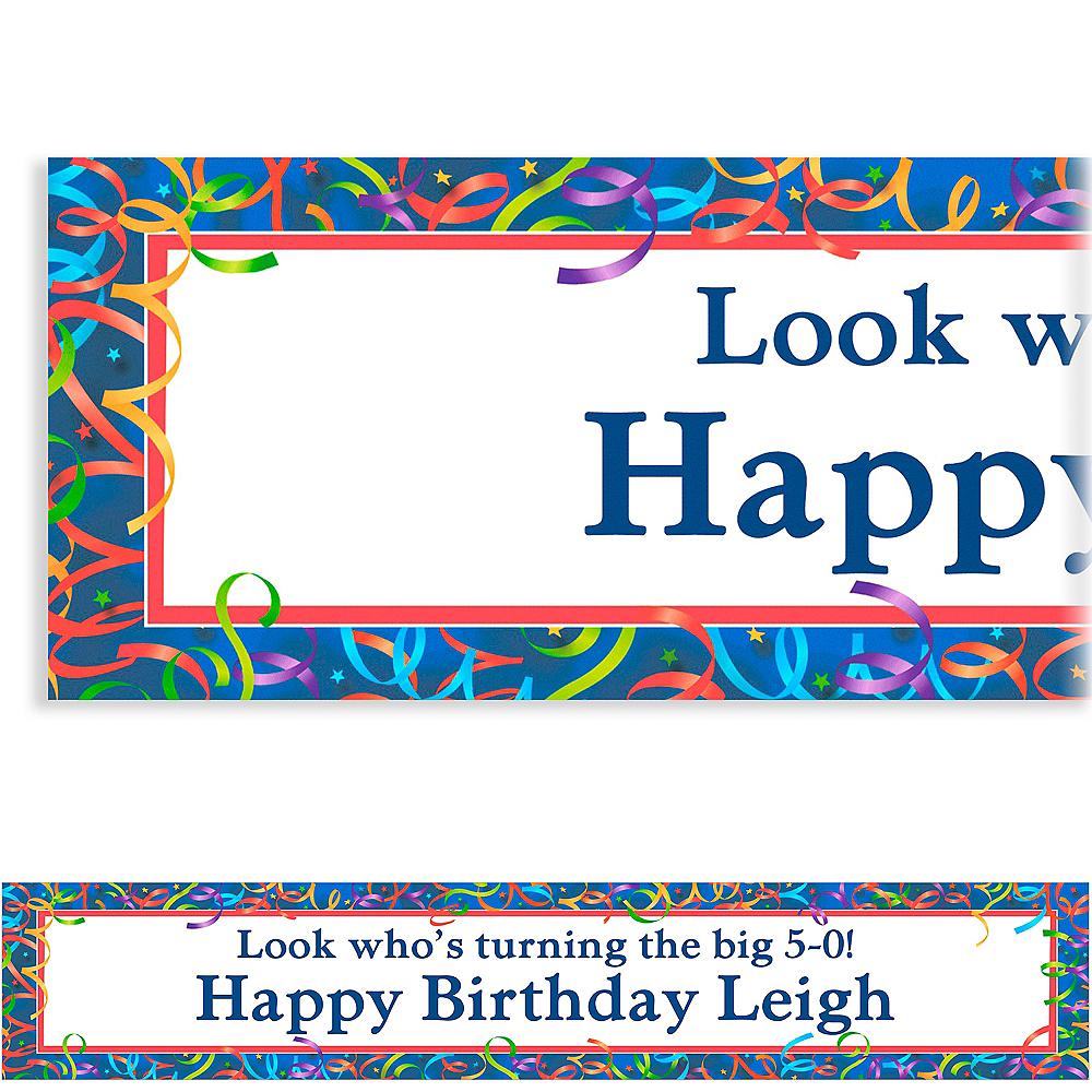 Custom Celebration Streamers Birthday Banner 6ft Image #1