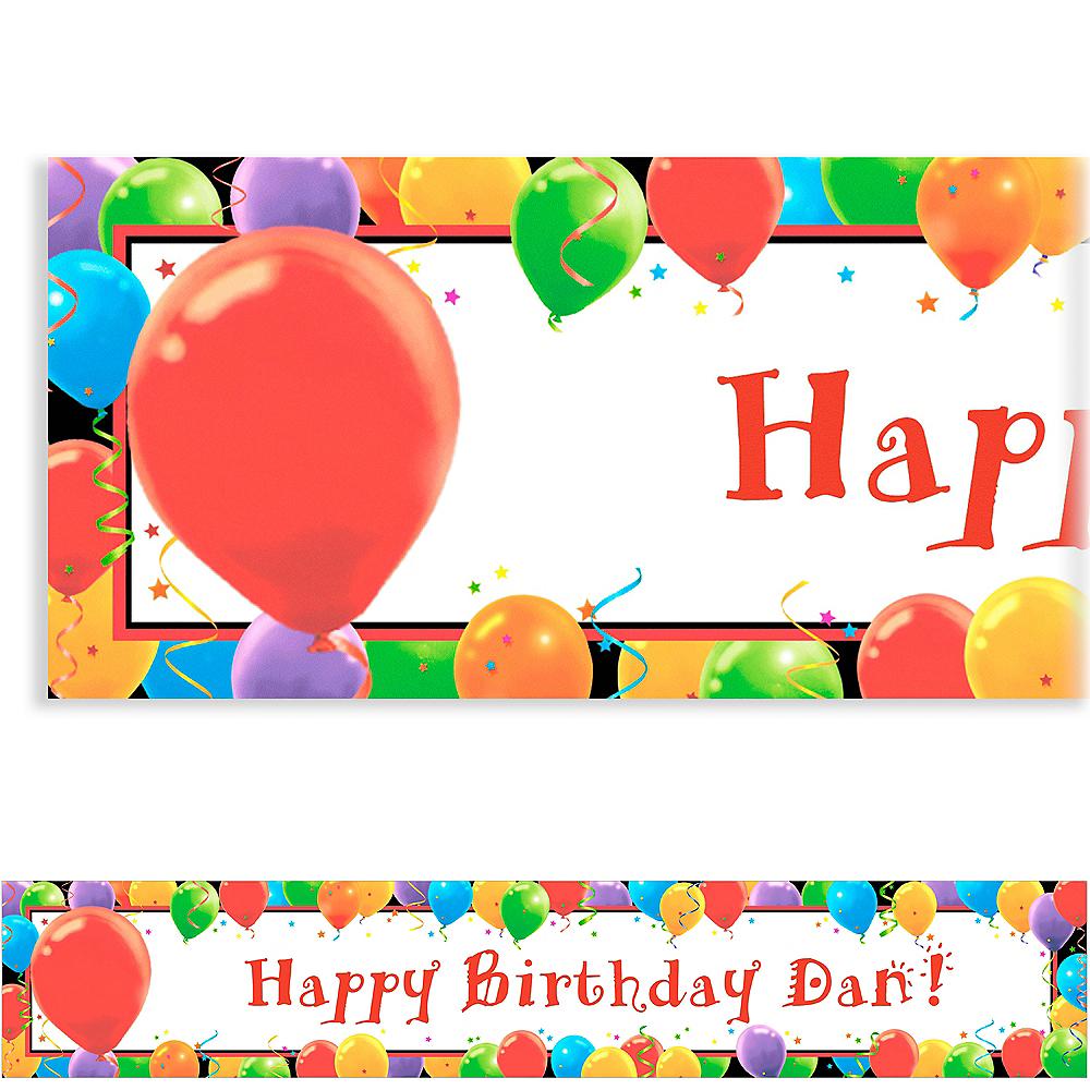 Custom Balloon Celebration Birthday Banner 6ft Image #1
