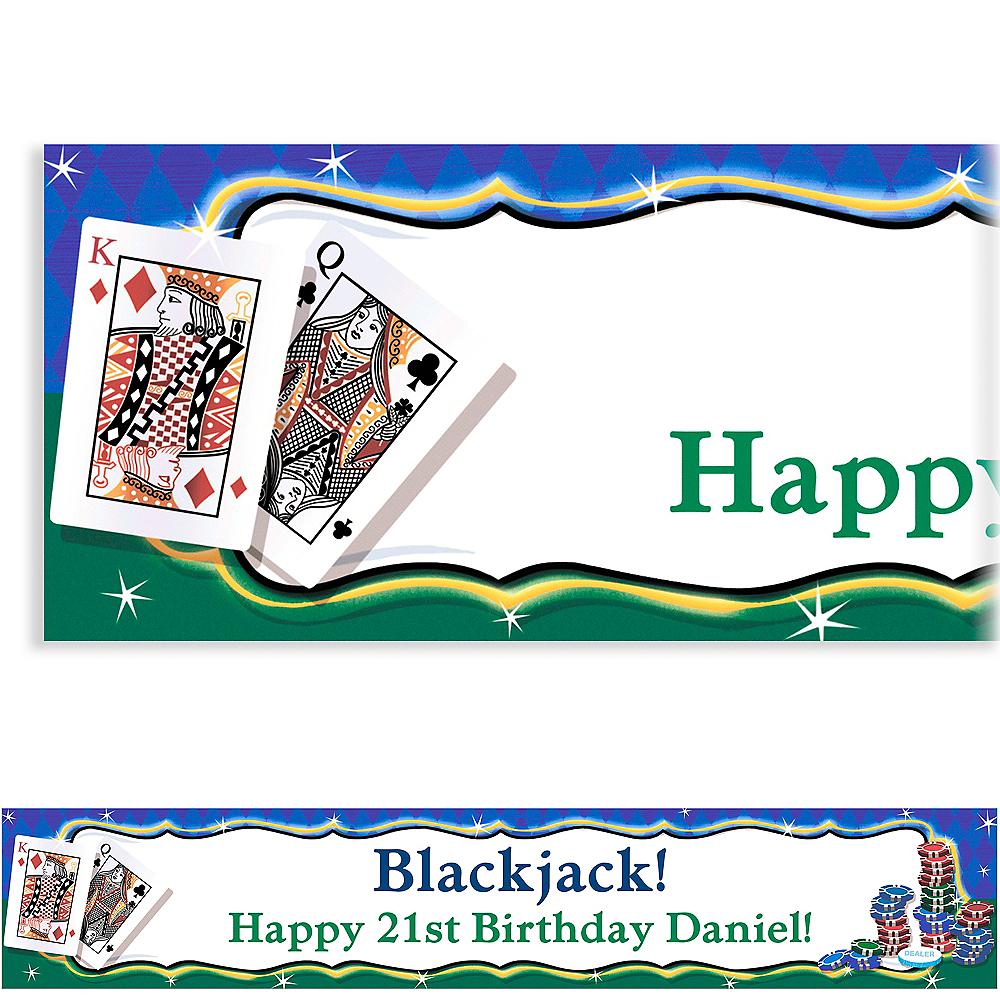 Custom Texas Hold'em Banner 6ft Image #1