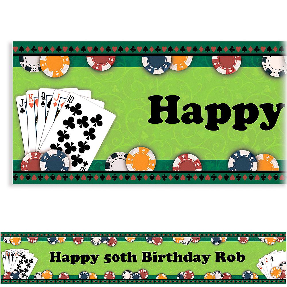 Custom Poker Party Banner 6ft Image #1