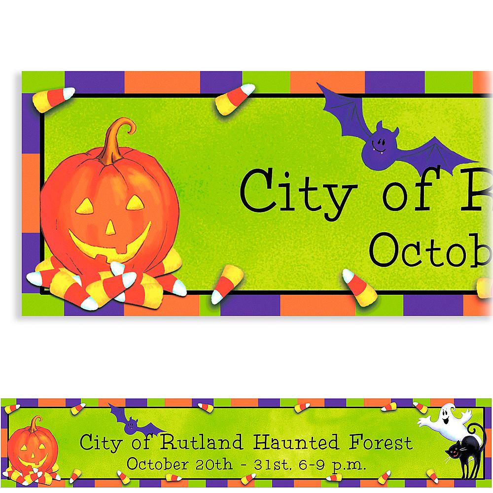 Custom Scary Fun Halloween Banner 6ft Image #1