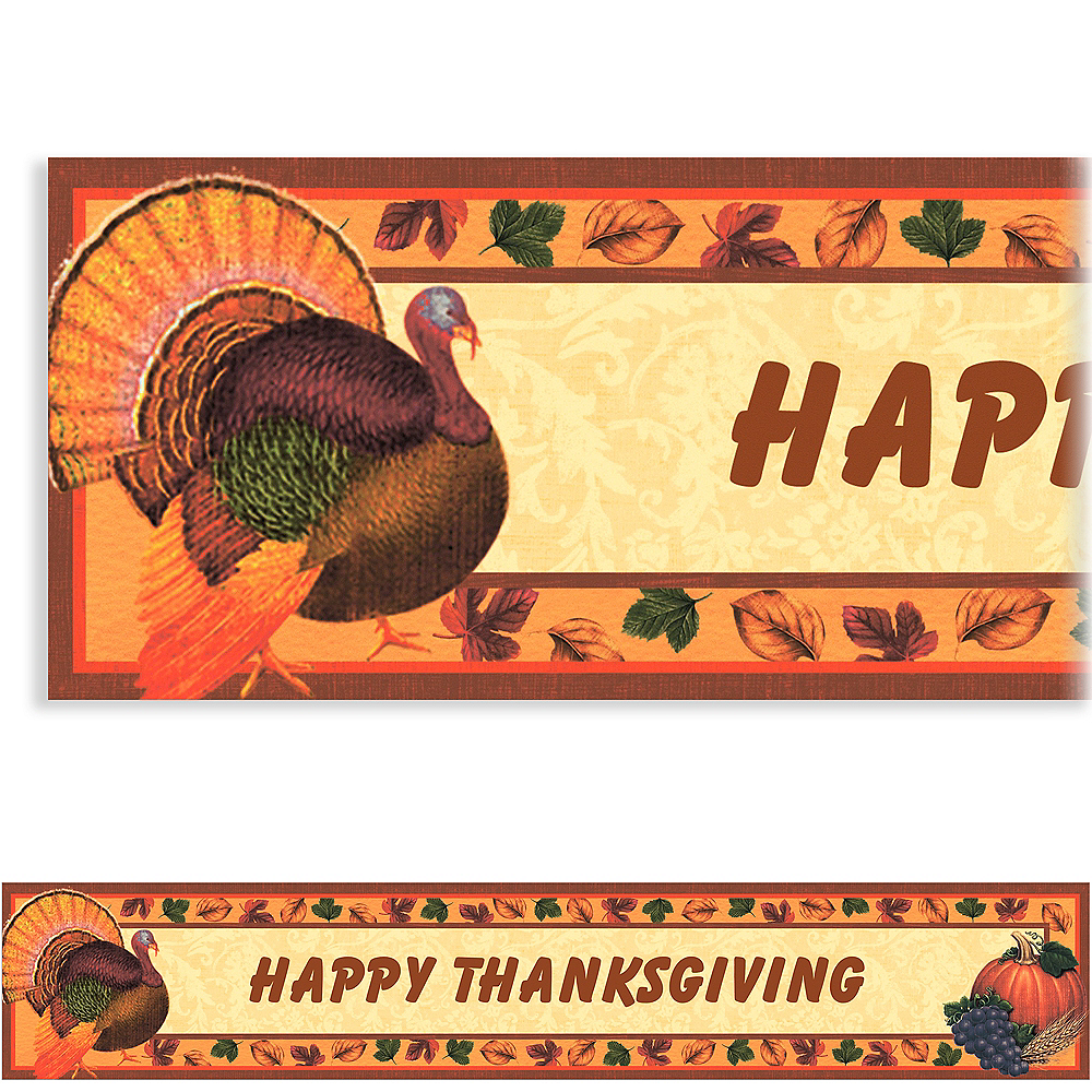Custom Thanksgiving Scrapbook Banner 6ft Image #1