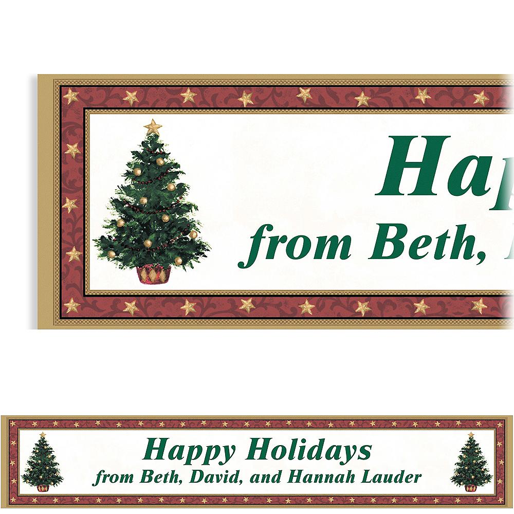 Custom Classic Christmas Tree Banner 6ft Image #1