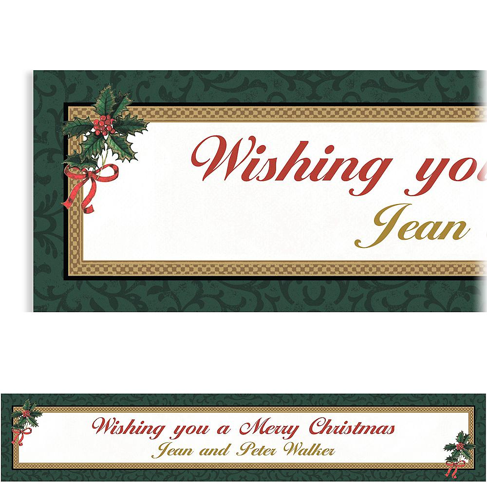 Custom Classic Holly Christmas Banner 6ft Image #1