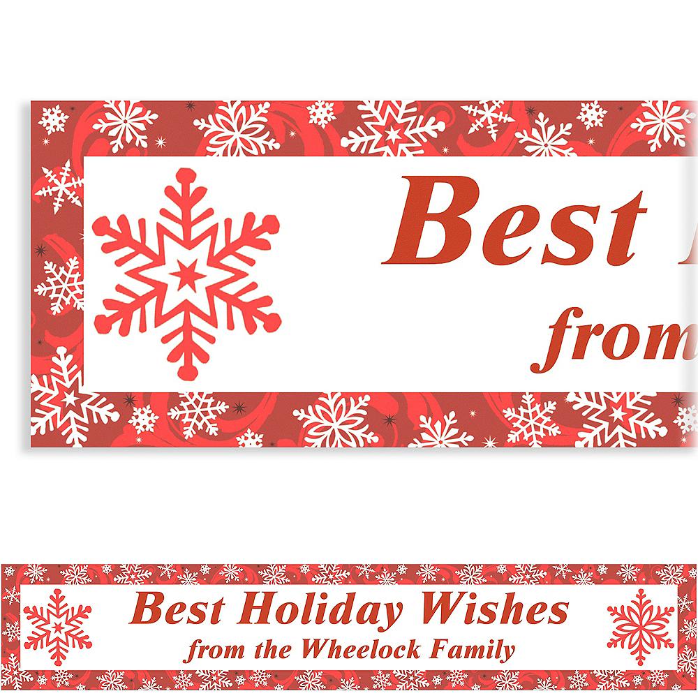 Custom Elegant Red Christmas Banner 6ft Image #1