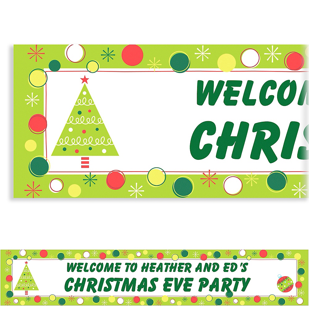 Custom Holiday Buzz Banner 6ft Image #1