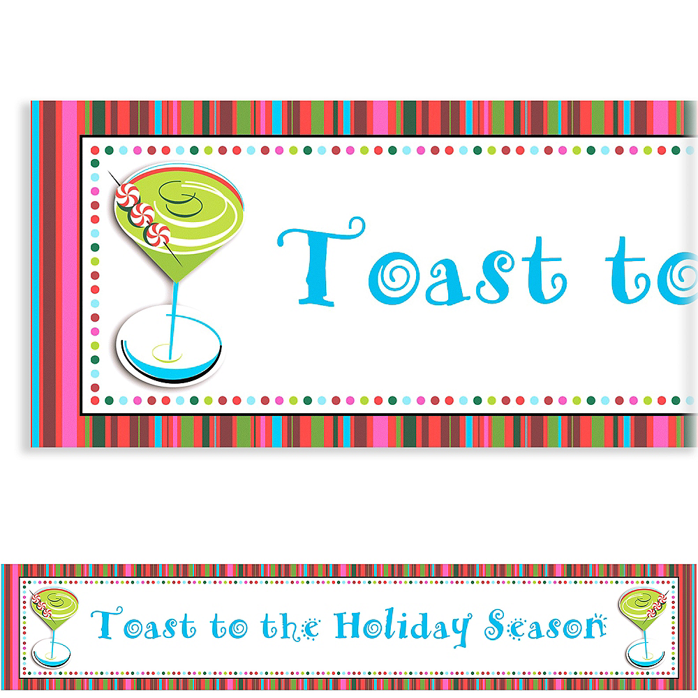 Custom Holiday Cocktail Banner 6ft Image #1