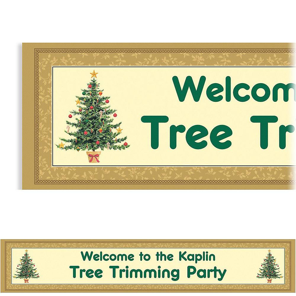Custom Victorian Christmas Tree Banner 6ft Image #1