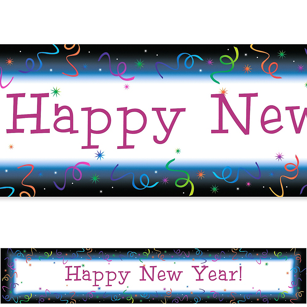 Custom Countdown Happy New Year Banner 6ft Image #1