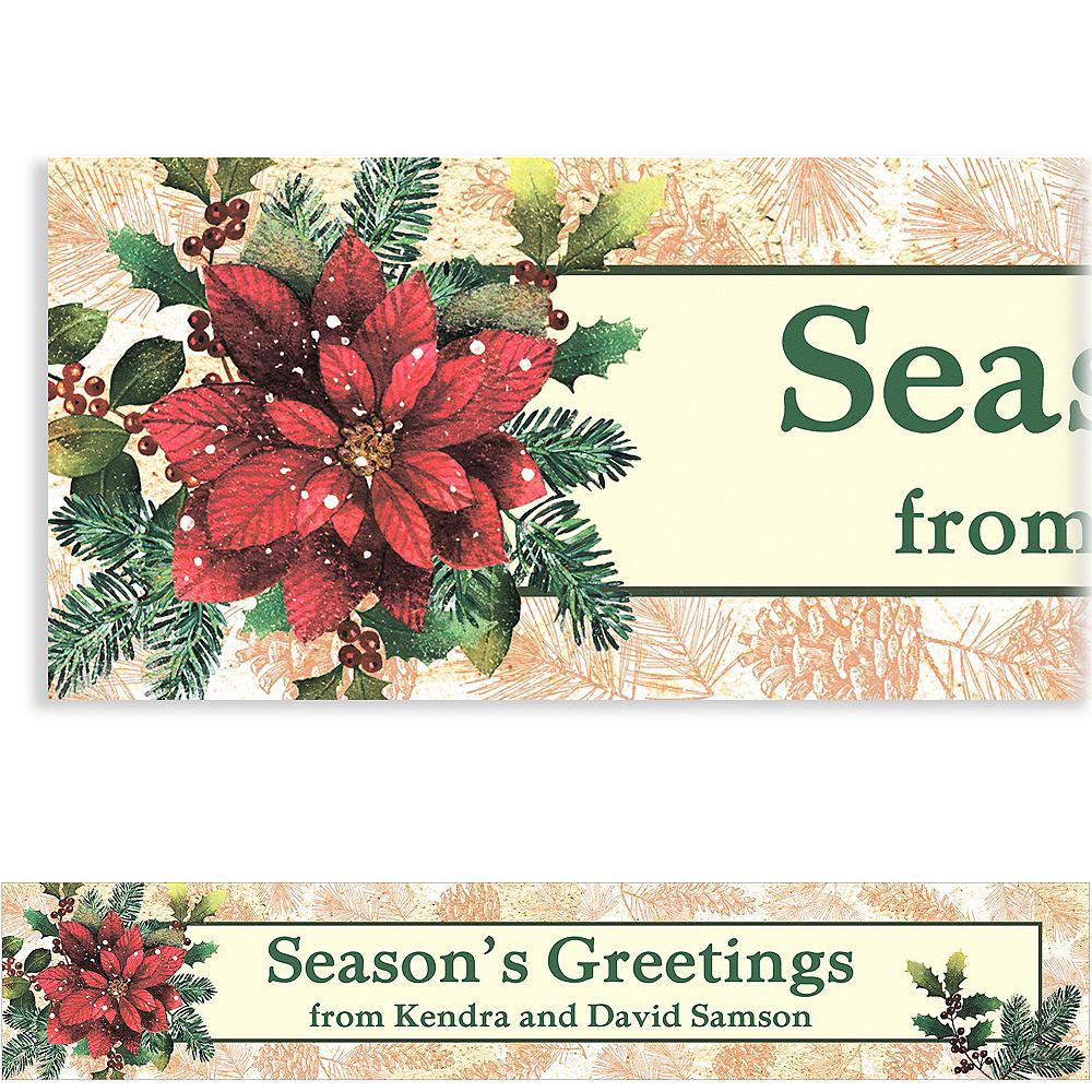 Custom Snowy Botanical Christmas Banner 6ft Image #1