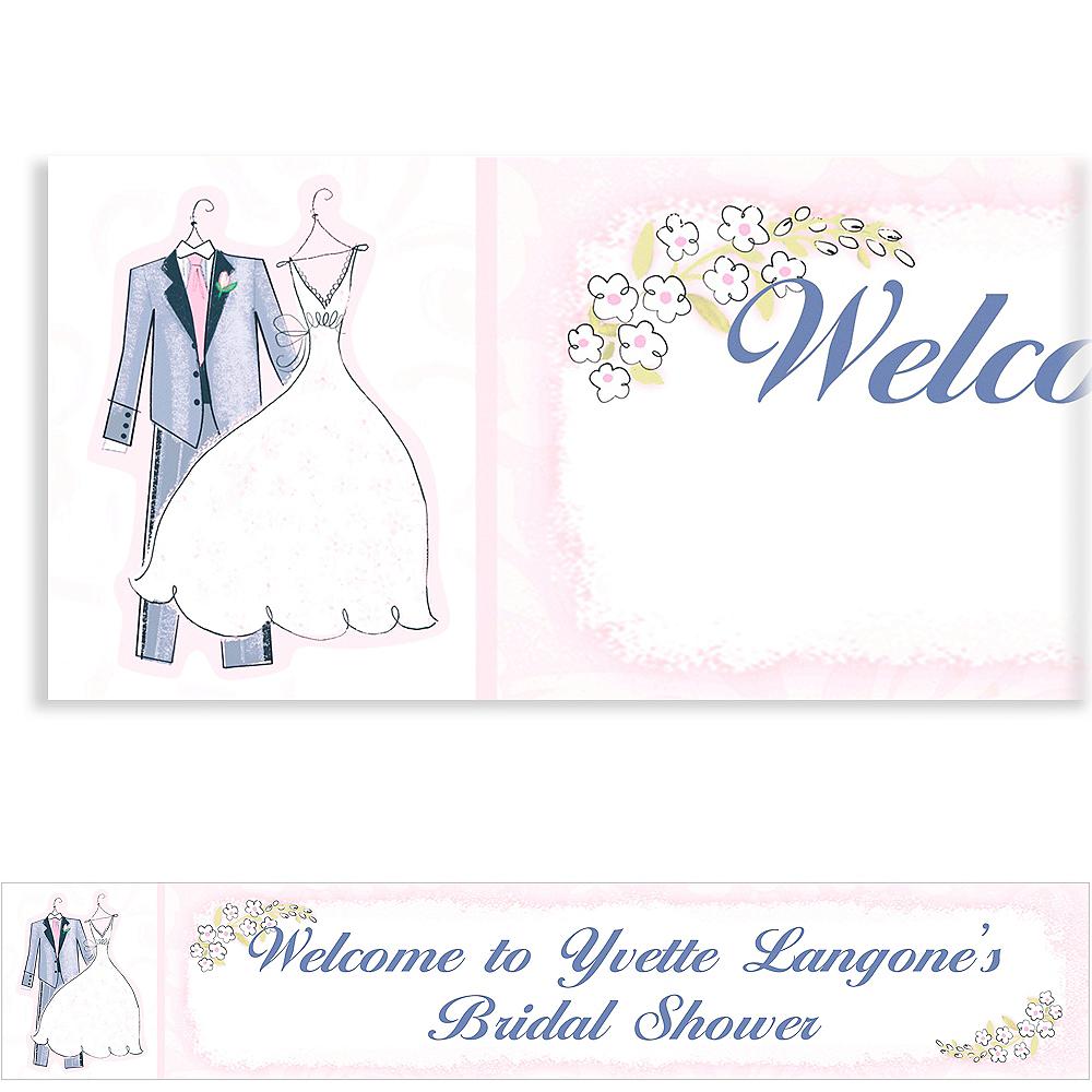 Custom Sweet Romance Wedding Banner 6ft Image #1