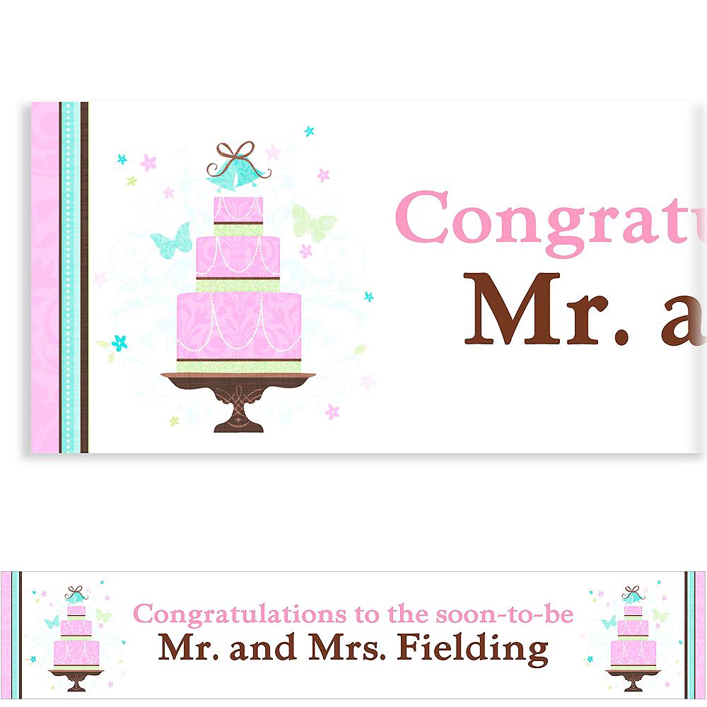 Custom Blushing Bride Bridal Shower Banner 6ft Image #1