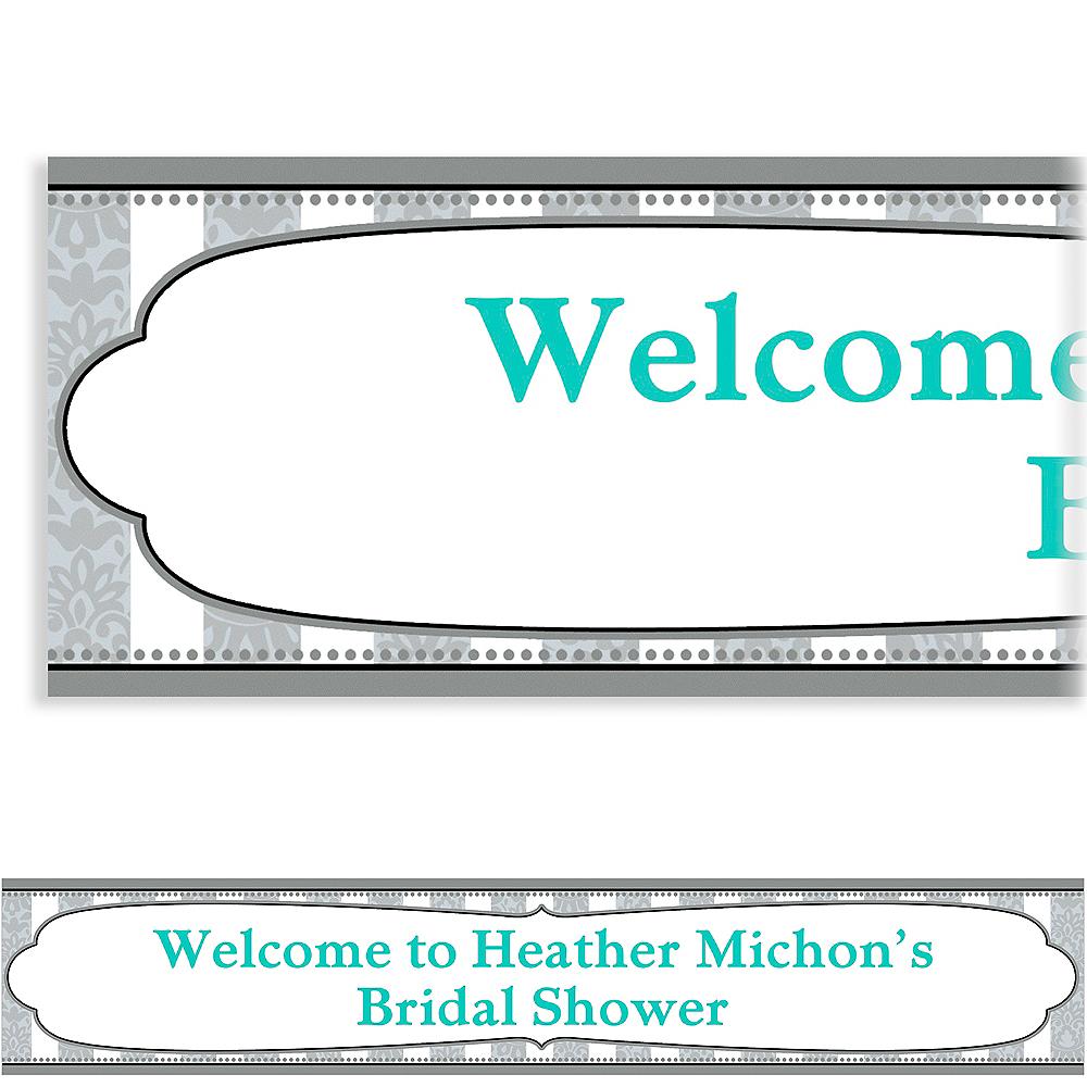 Custom Bride & Groom Bridal Shower Banner 6ft Image #1