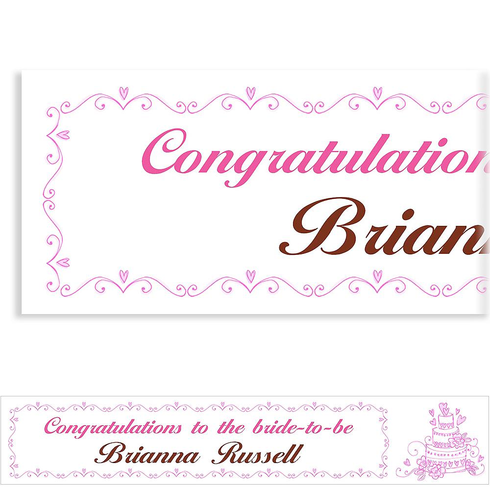 Custom Cake Bridal Shower Banner 6ft Image #1