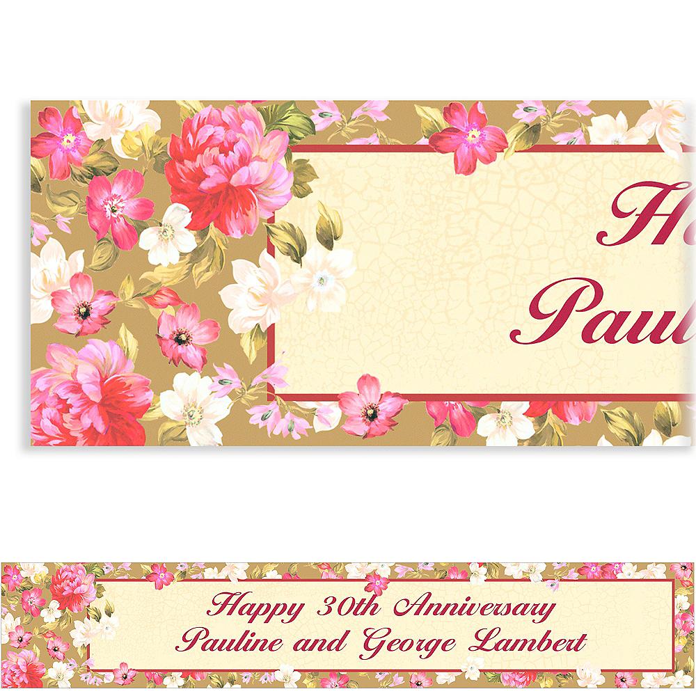 Custom Elegant Bouquet Banner 6ft Image #1