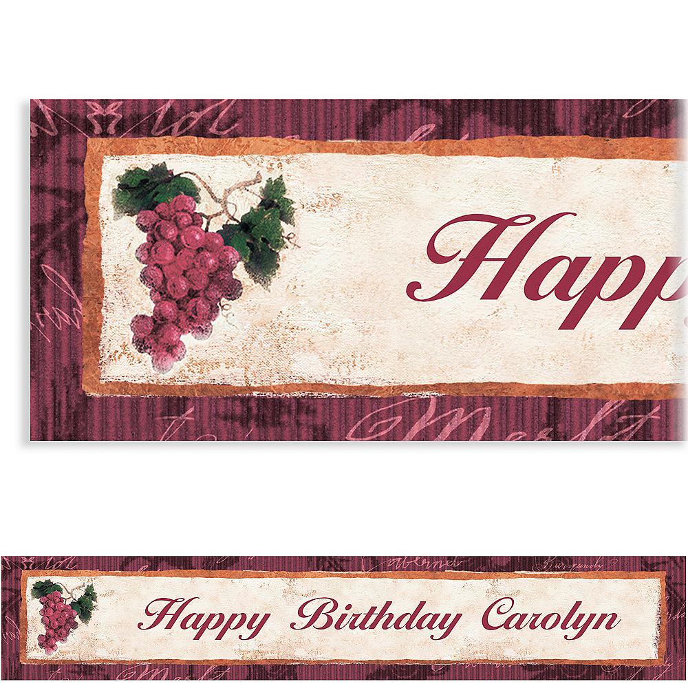 Custom Vineyard Grapes Banner 6ft Image #1