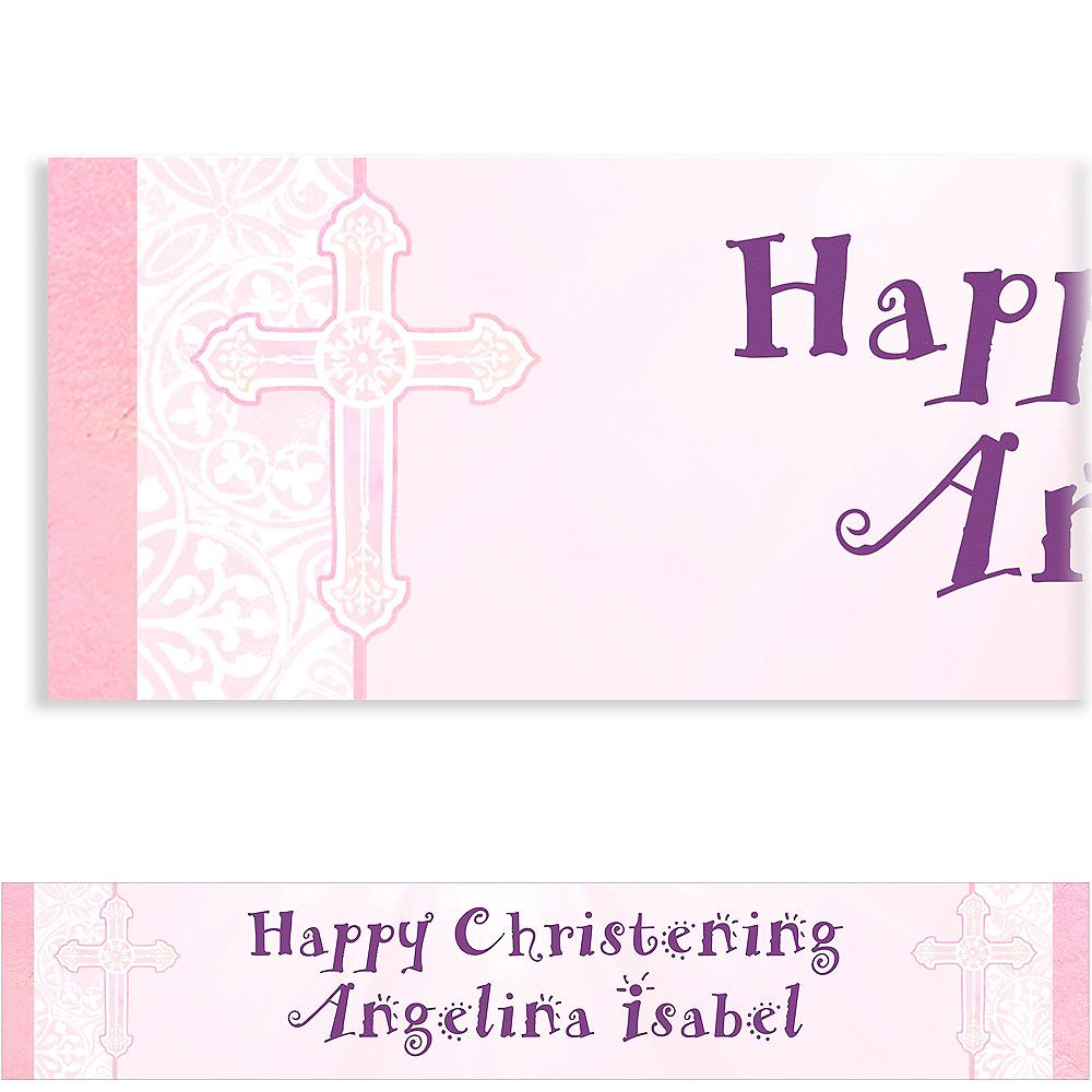 Custom Radiant Cross Pink Banner 6ft Image #1