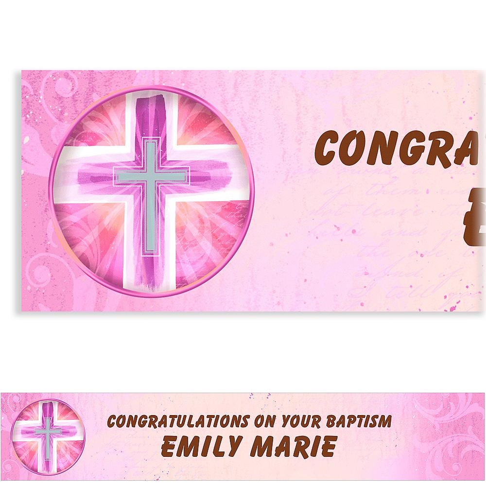 Custom Joyous Cross Pink Banner 6ft Image #1