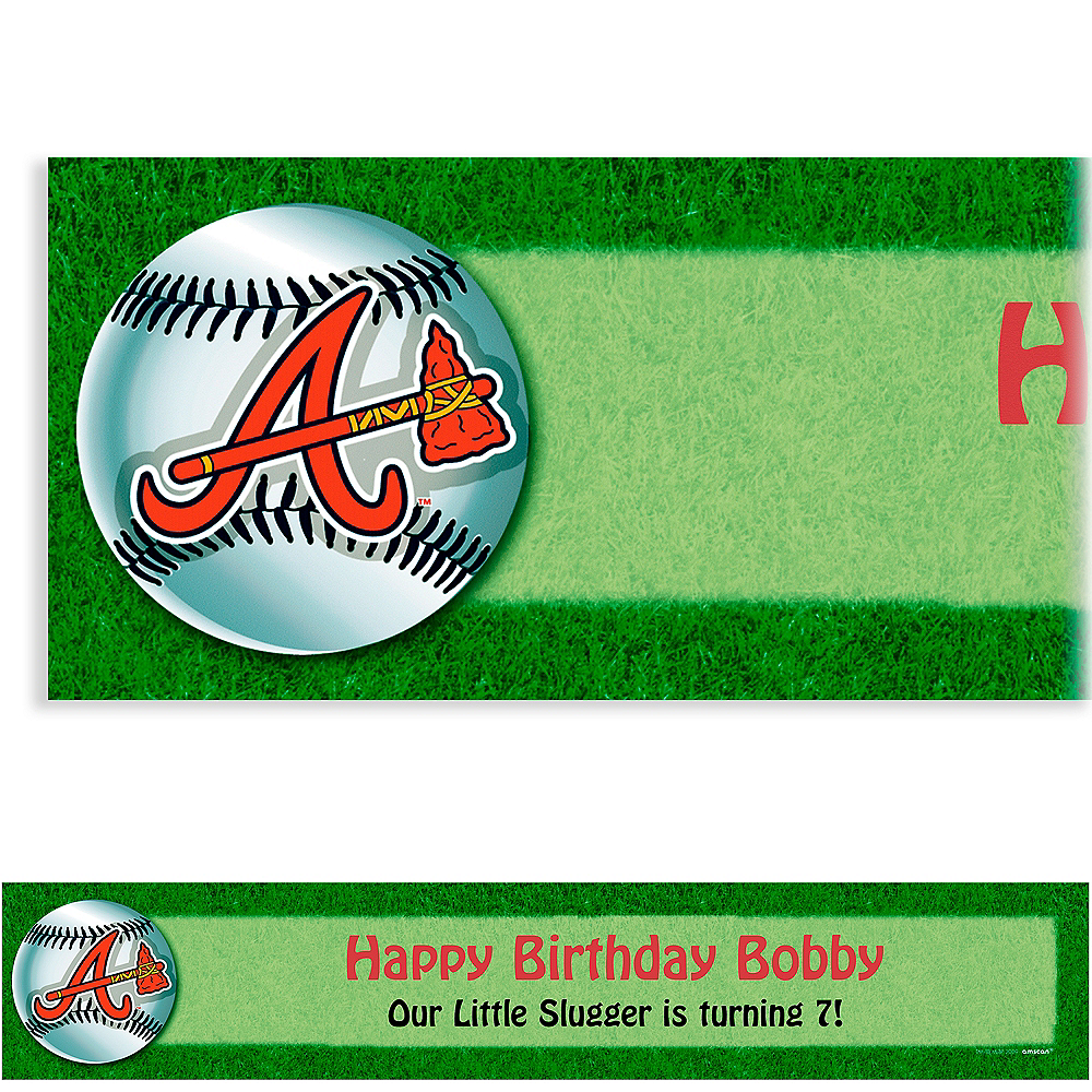 Custom Atlanta Braves Banner 6ft Image #1