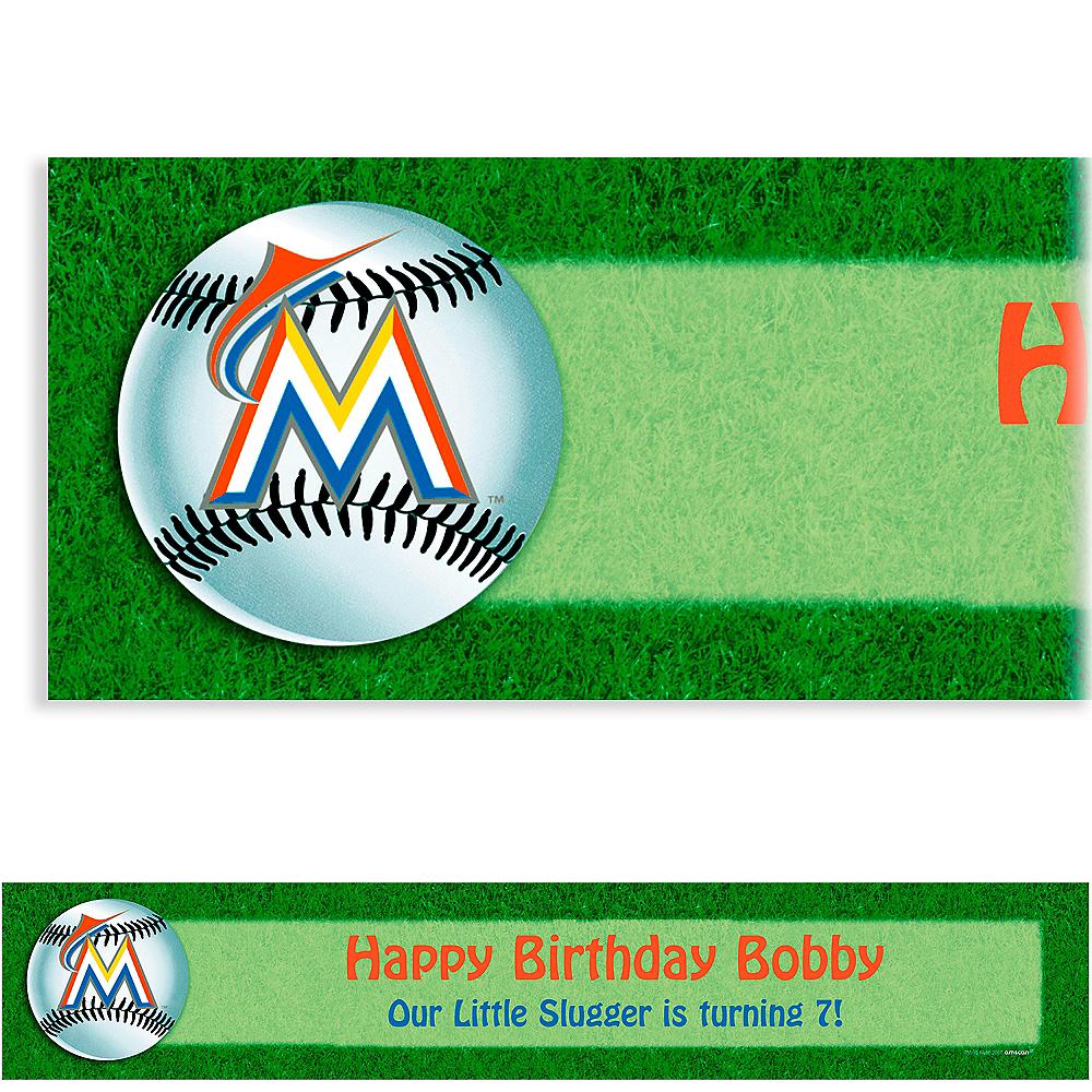Custom Miami Marlins Banner 6ft Image #1