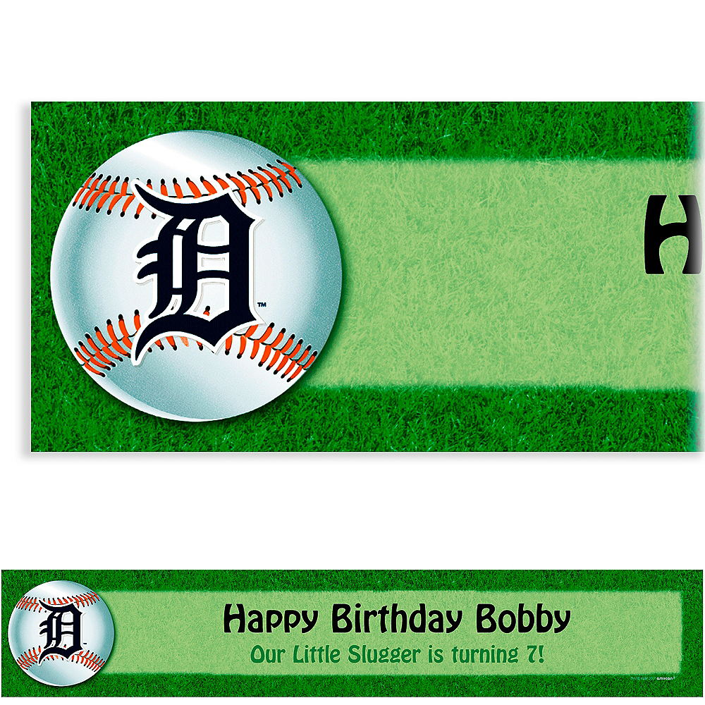 Custom Detroit Tigers Banner 6ft Image #1