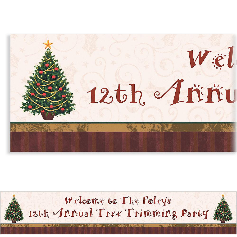 Custom Twinkling Tree Christmas Banner 6ft Image #1