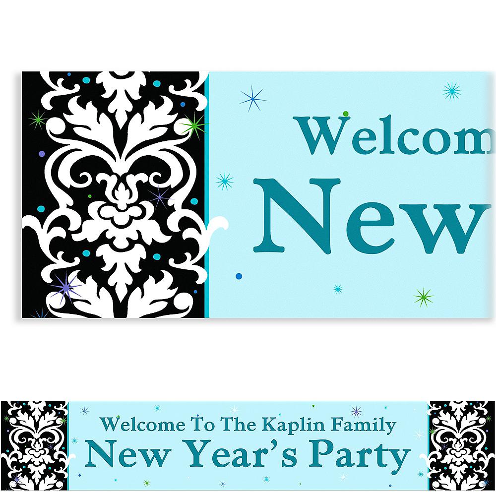 Custom Elegant New Year's Banner 6ft Image #1