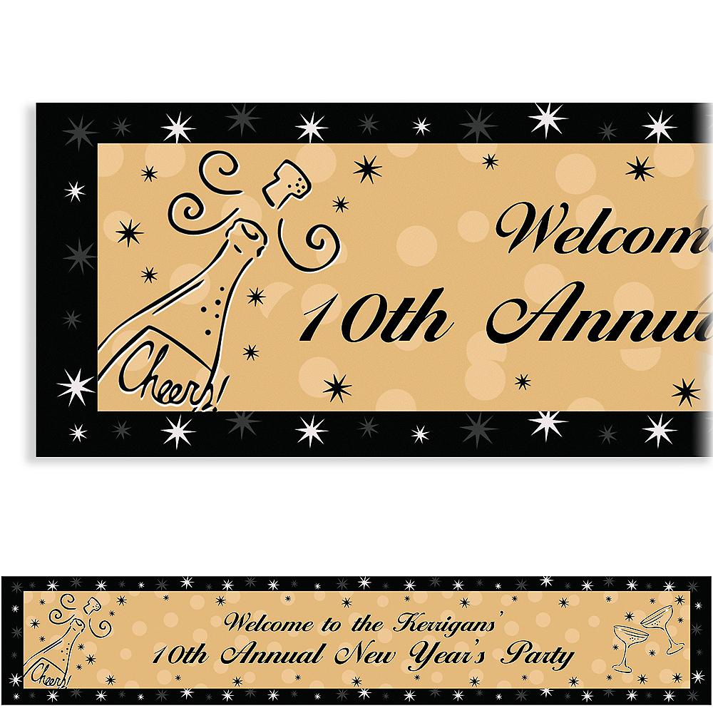 Custom Midnight Toast New Year's Banner 6ft Image #1